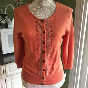 Beautiful NWT button down summer sweater S